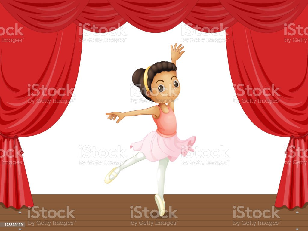 Ballerina on stage royalty-free ballerina on stage stock vector art & more images of activity