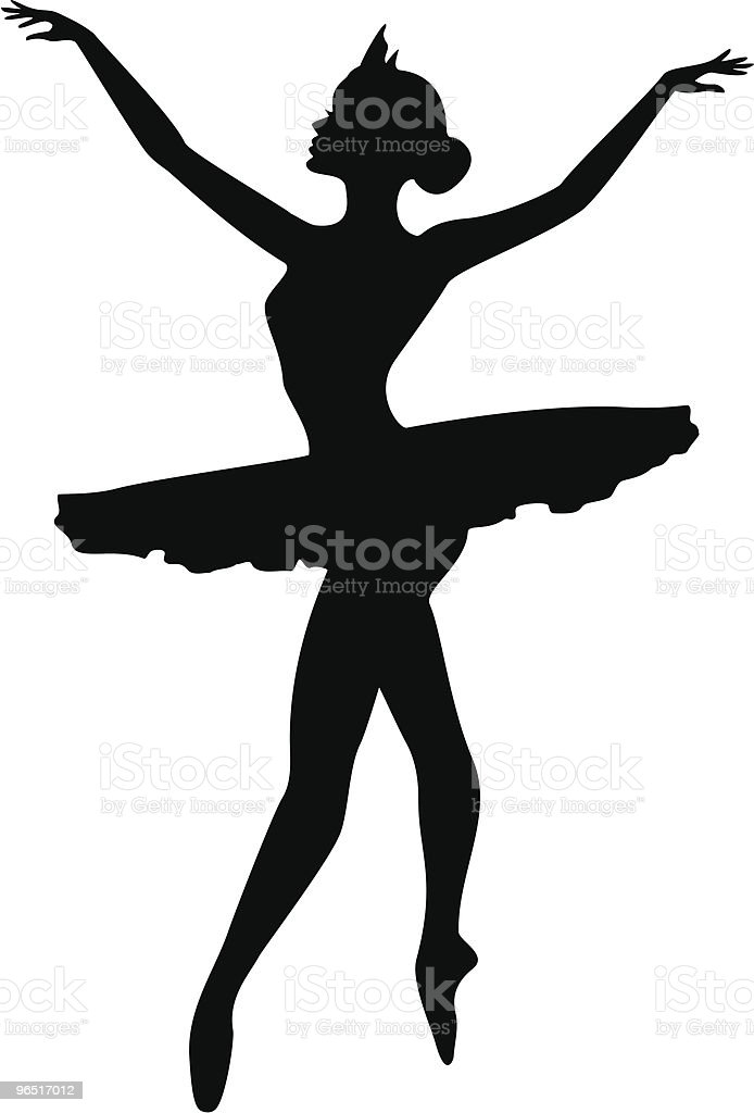 Ballerina silhouette - Ballet Dancer royalty-free ballerina silhouette ballet dancer stock vector art & more images of ballet