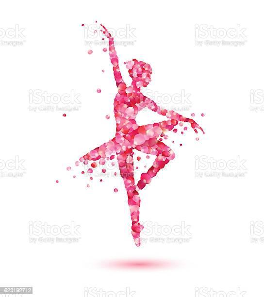 Ballerina silhouette of pink rose petals vector id623192712?b=1&k=6&m=623192712&s=612x612&h=d2inue1 aetd9bvsfbe1dt951 hl2enfmqf ohijqba=