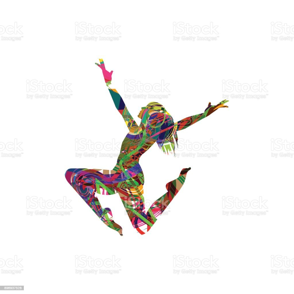 Ballerina silhouette vector art illustration