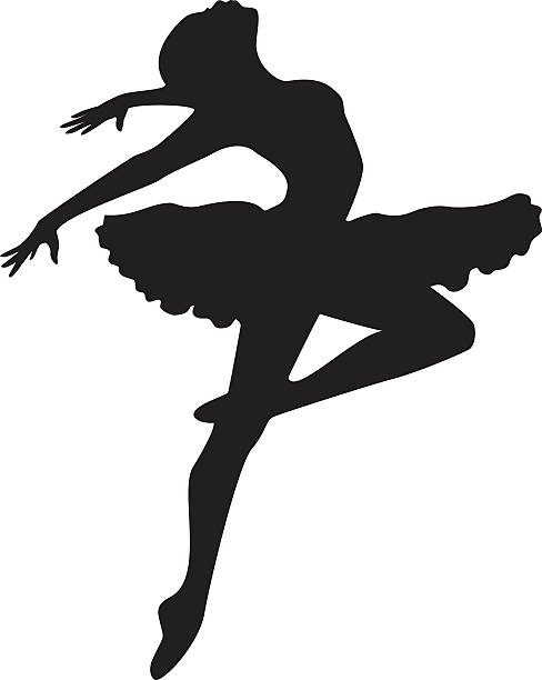 Ballerina Silhouette vector art illustration