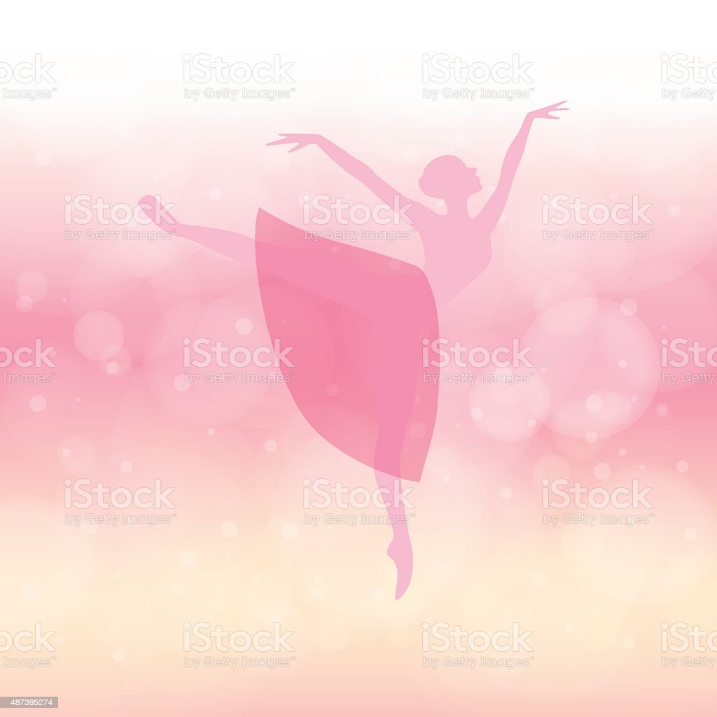 Ballerina vector art illustration