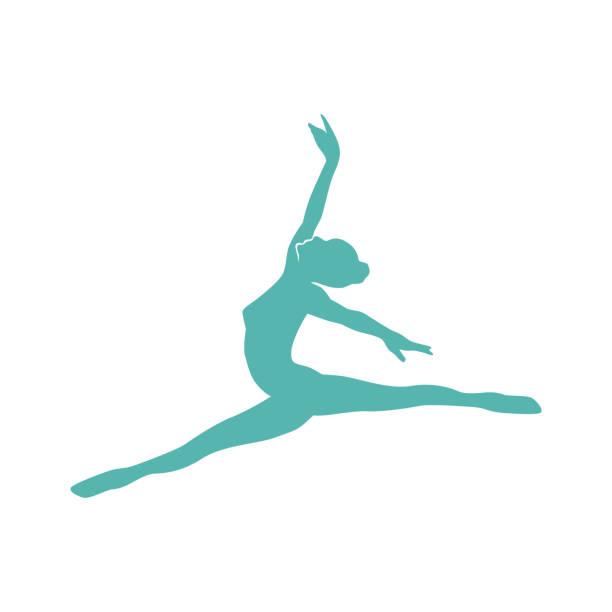 illustrations, cliparts, dessins animés et icônes de ballerine - gymnastique sportive