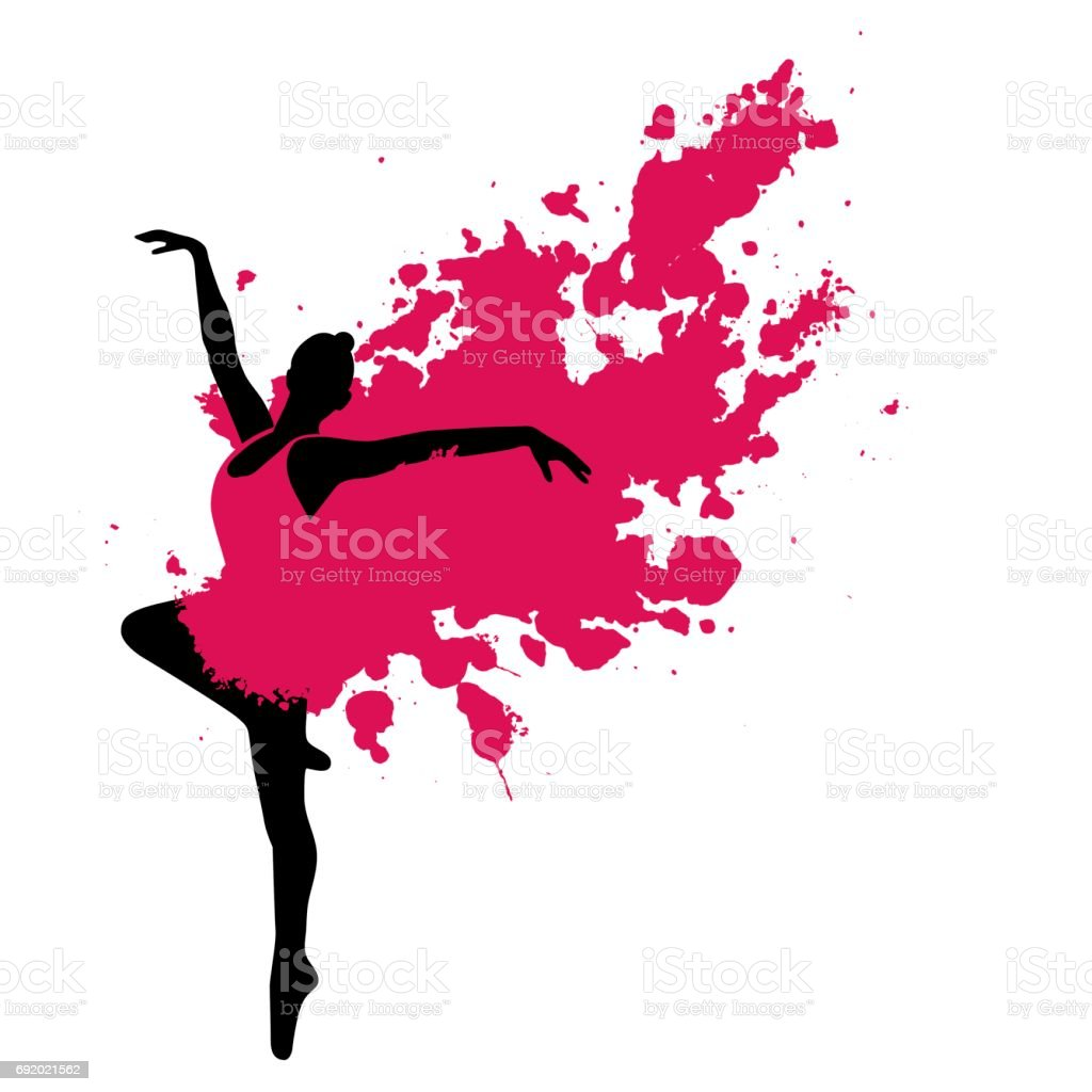 Bailarín de Ballet en movimiento - ilustración de arte vectorial