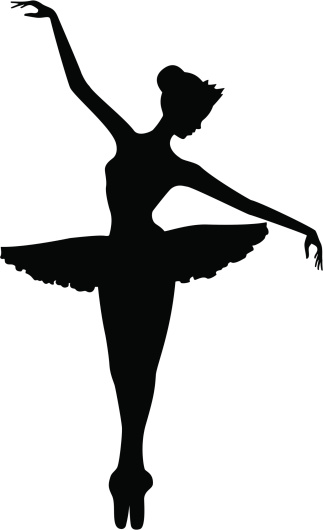Ballet Dancer On Toes Silhouette Stockvectorkunst en meer beelden van Artiest