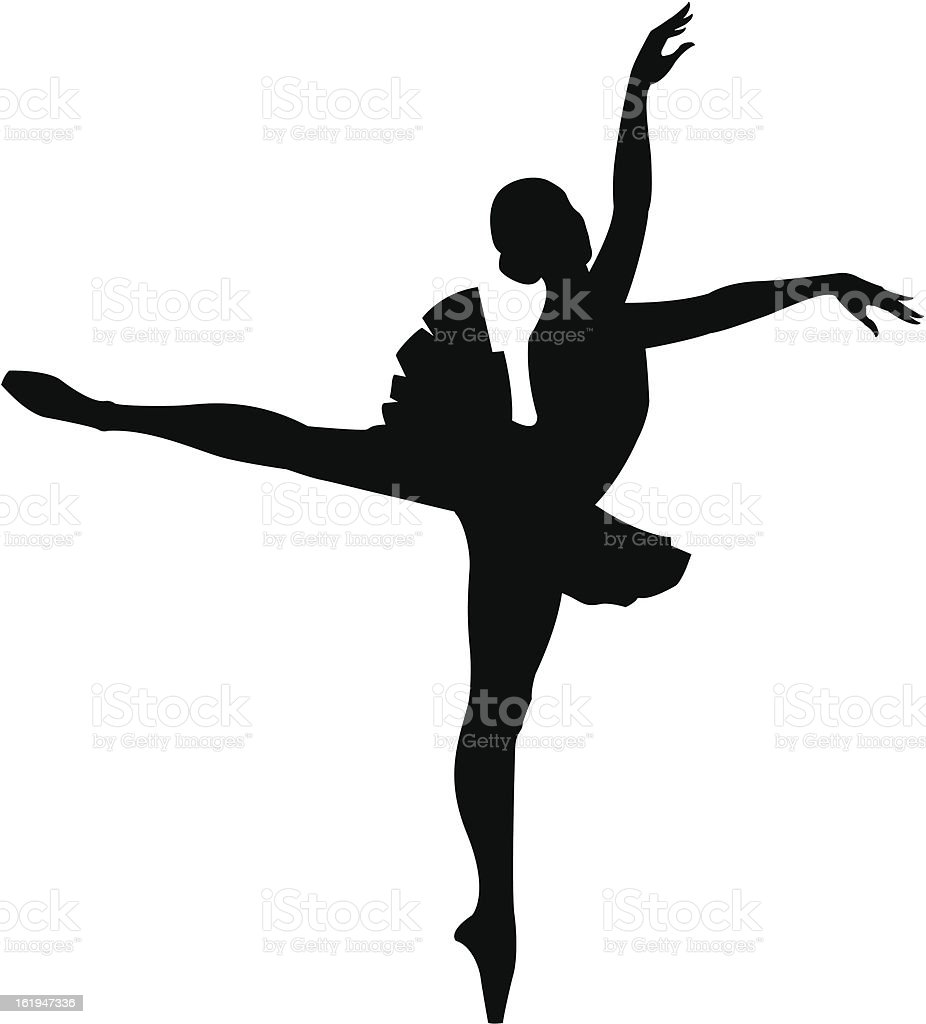 Ballet Dancer vector art illustration