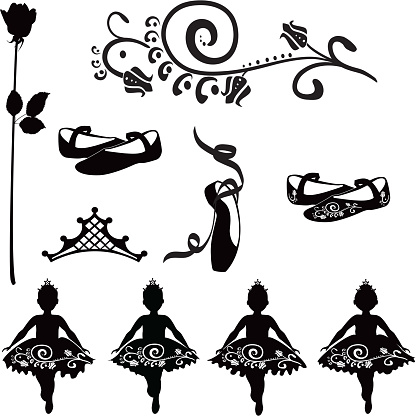 Ballet elements for toddlers in tutus