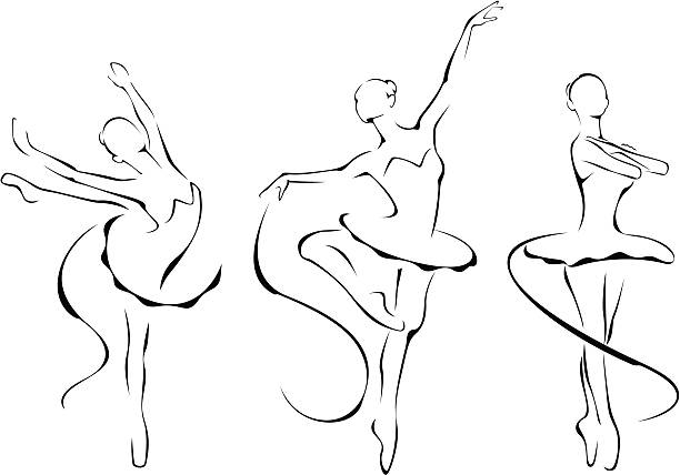 Ballet icons vector art illustration