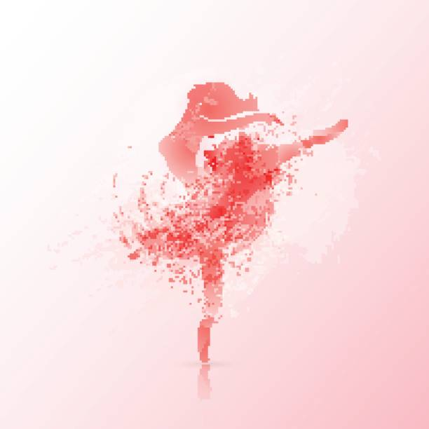 Ballet poster design vector art illustration