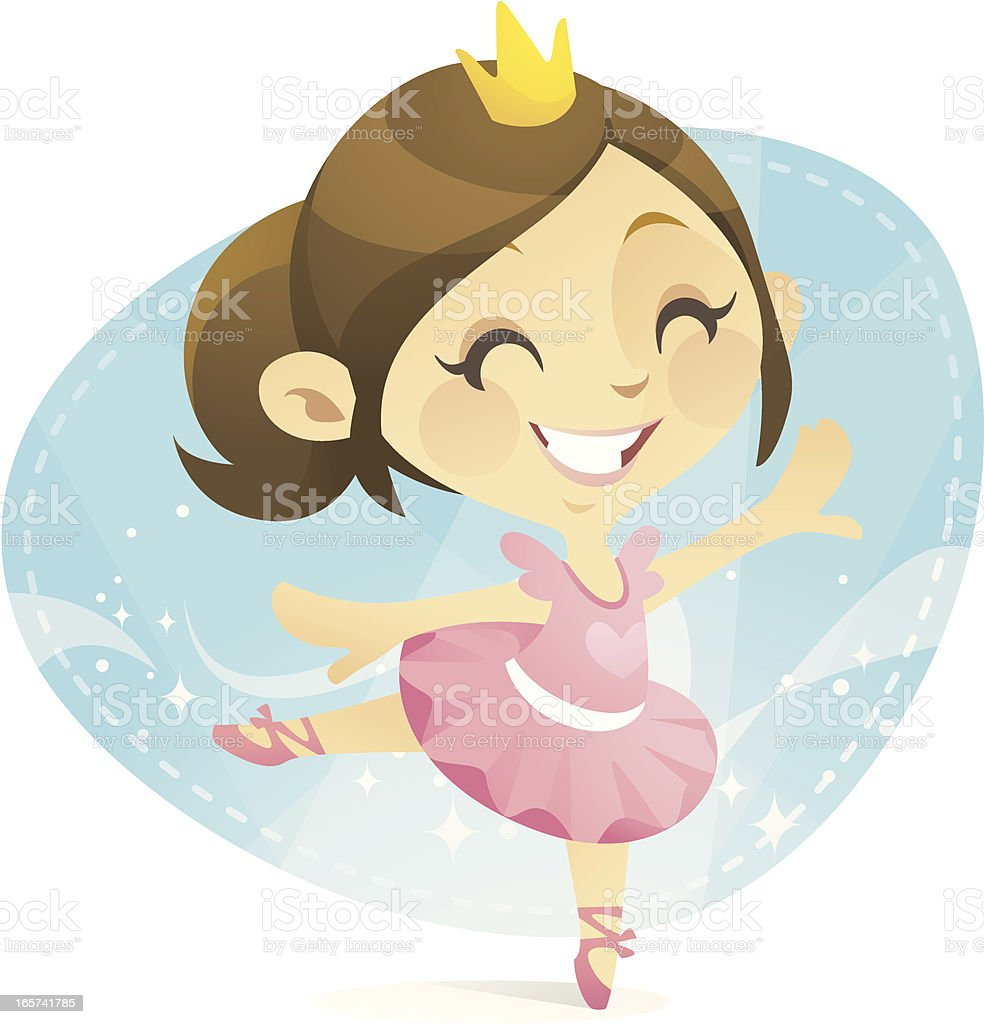 Ballet Princess vector art illustration