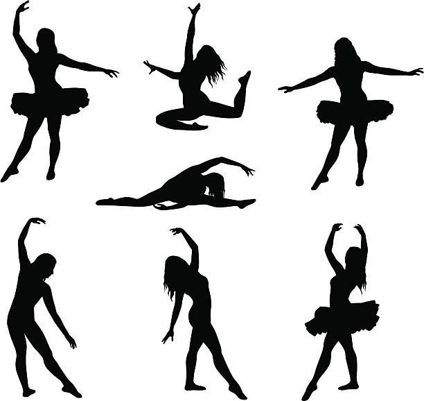 balletseven - spagat stock-grafiken, -clipart, -cartoons und -symbole