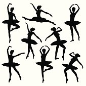 ballet silhouette  ballerina