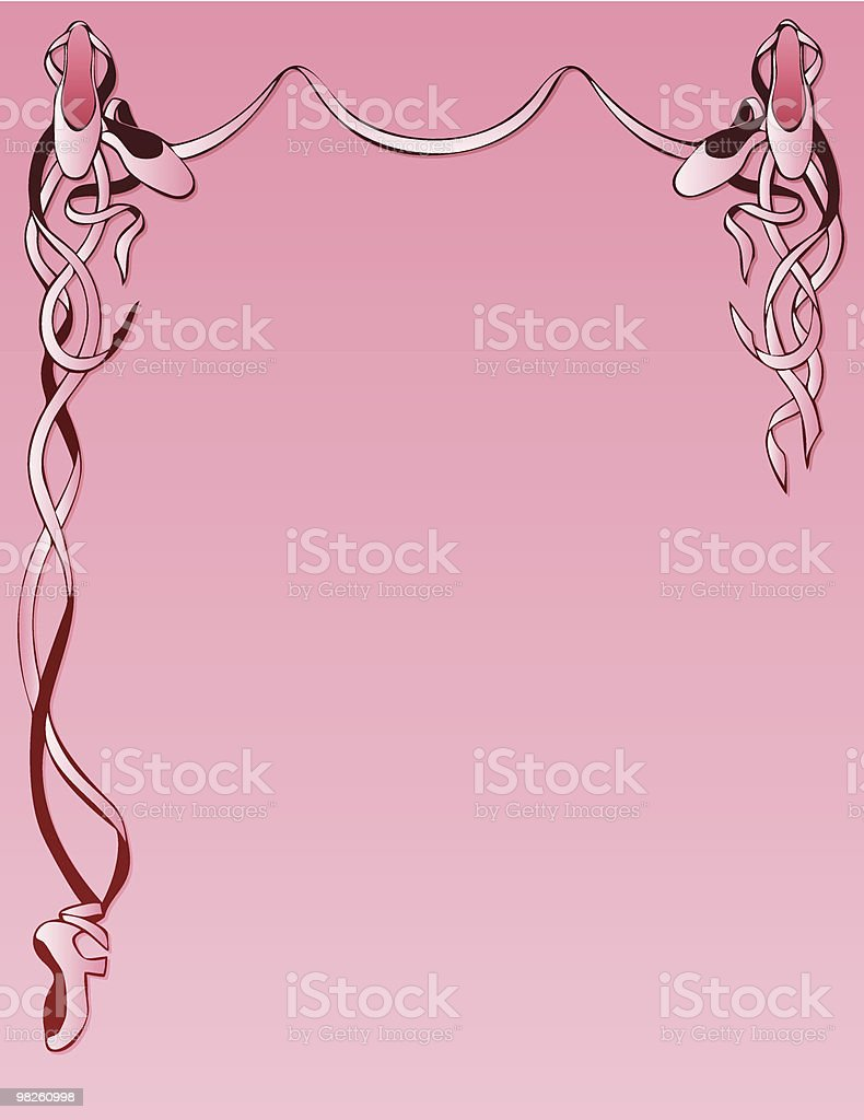 Ballet Slippers Background in Pink royalty-free ballet slippers background in pink stock vector art & more images of backgrounds