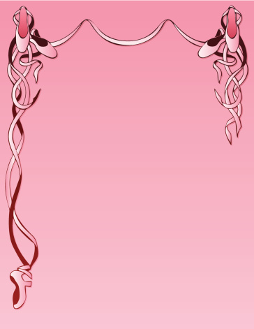 Ballet Slippers Background in Pink