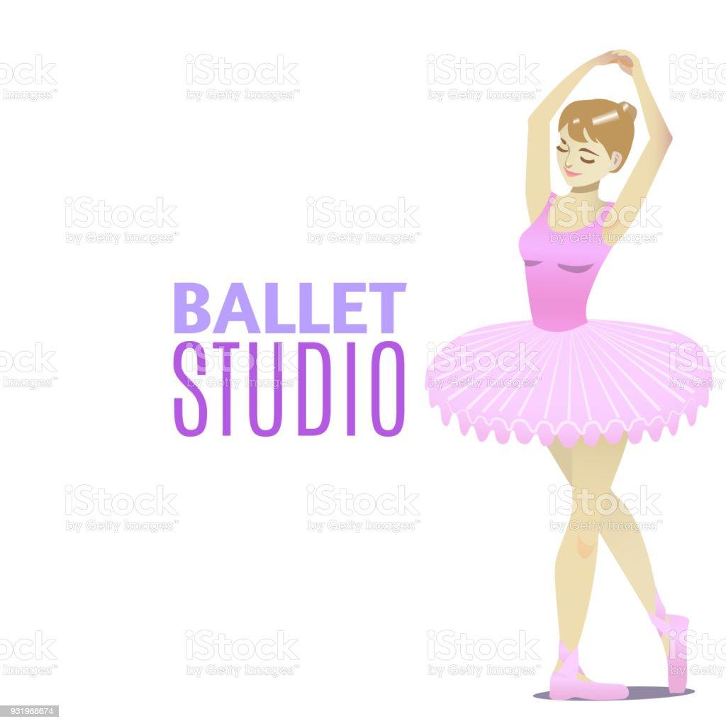 Ballettstudiovorlage Im Cartoonstil Stock Vektor Art und mehr Bilder ...