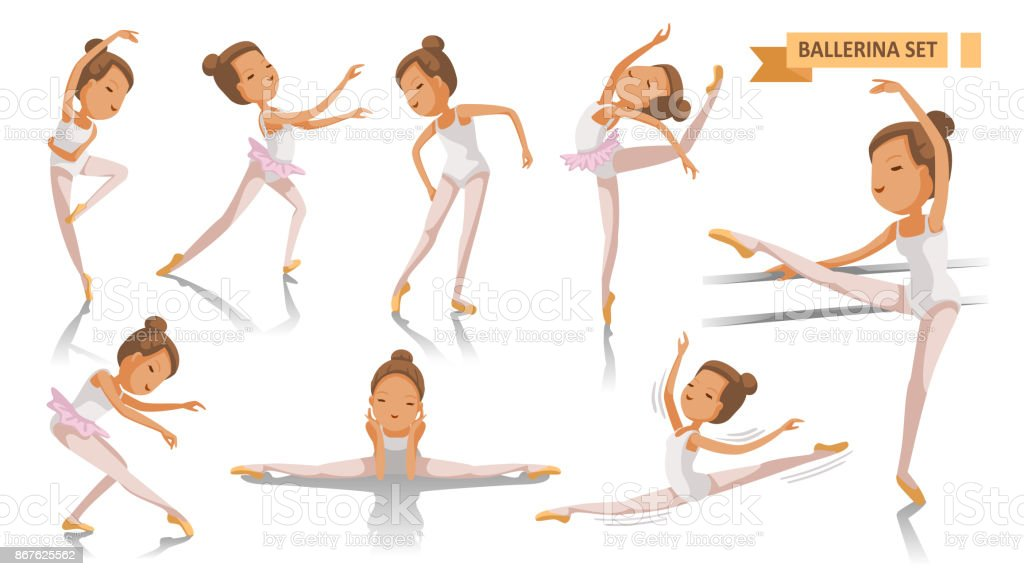 Ballet vector art illustration