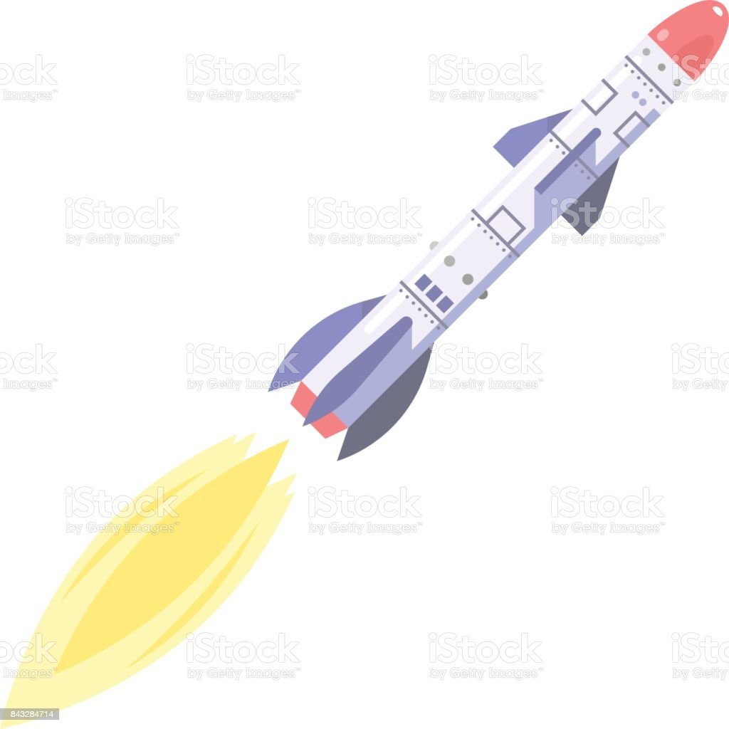 Ballistic Missile vector art illustration