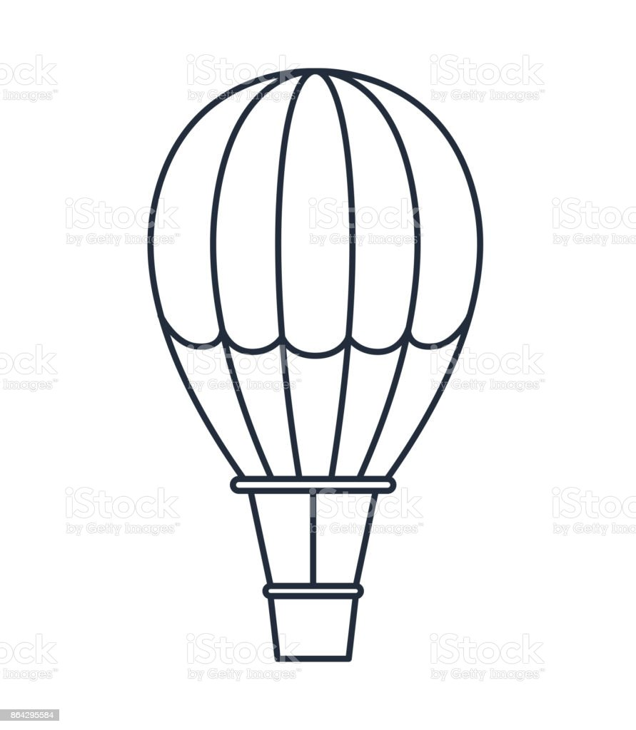 balloon air hot isolated icon design royalty-free balloon air hot isolated icon design stock vector art & more images of adventure