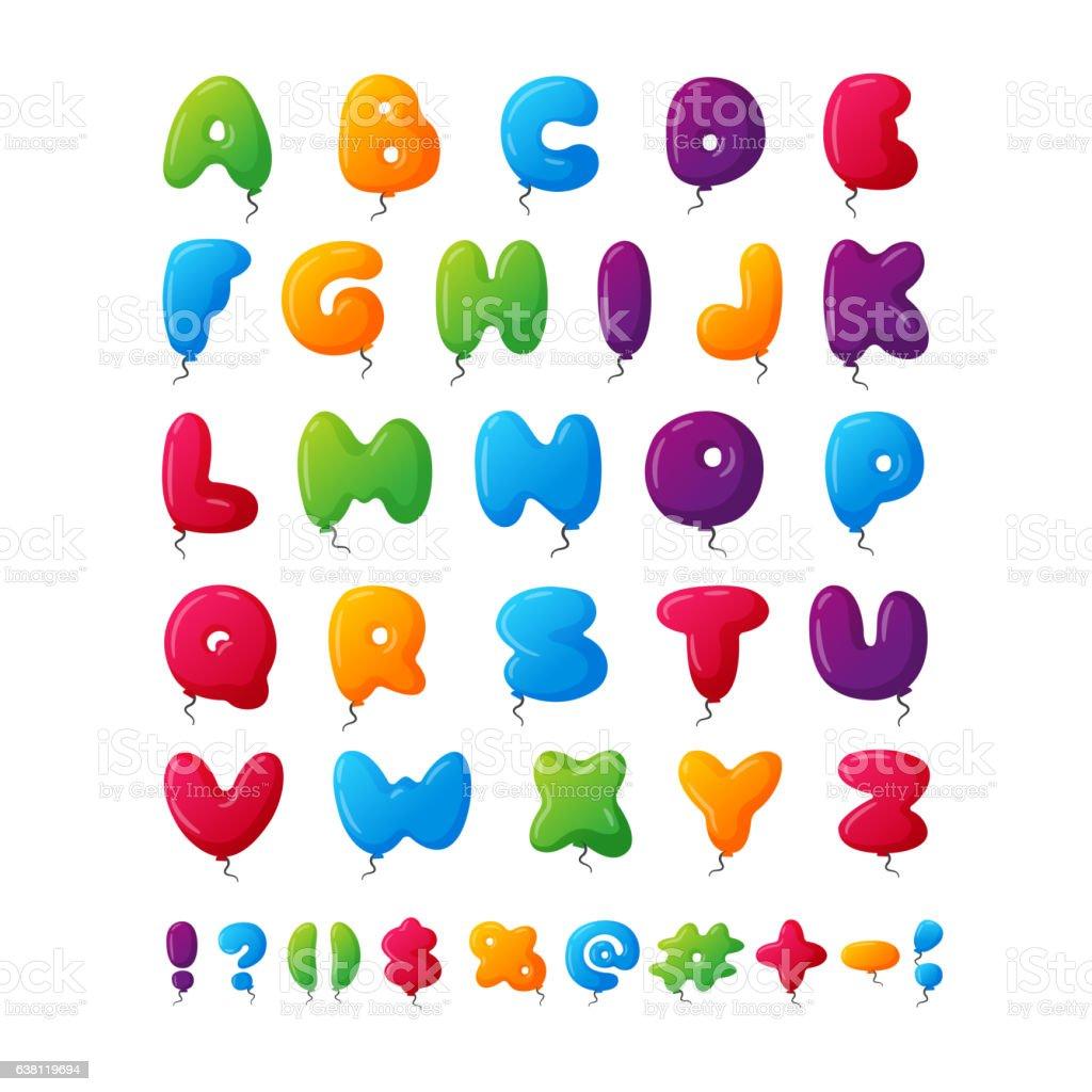 Balloon alphabet vector set. vector art illustration