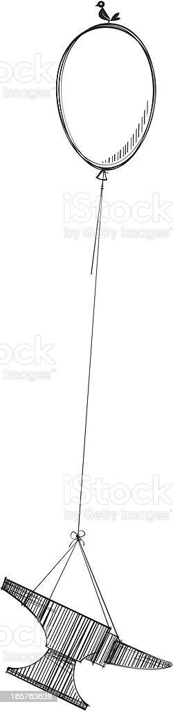 Balloon and Anvil vector art illustration