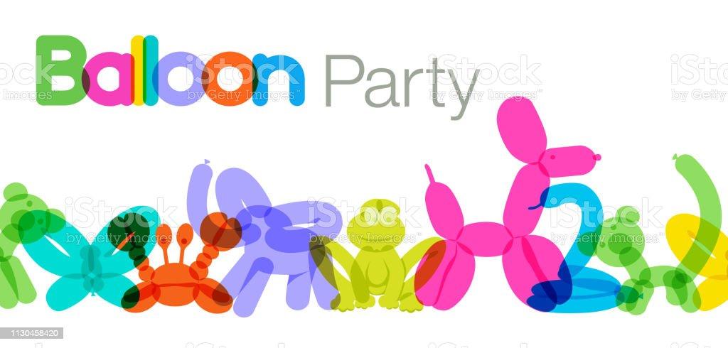 Balloon Animals vector art illustration