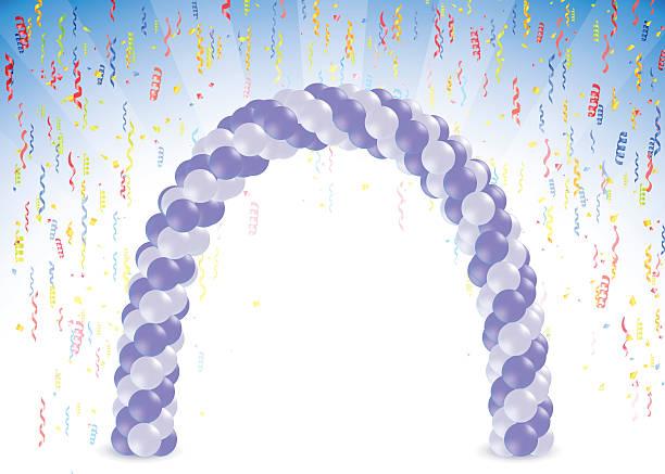 Arco de globo - ilustración de arte vectorial