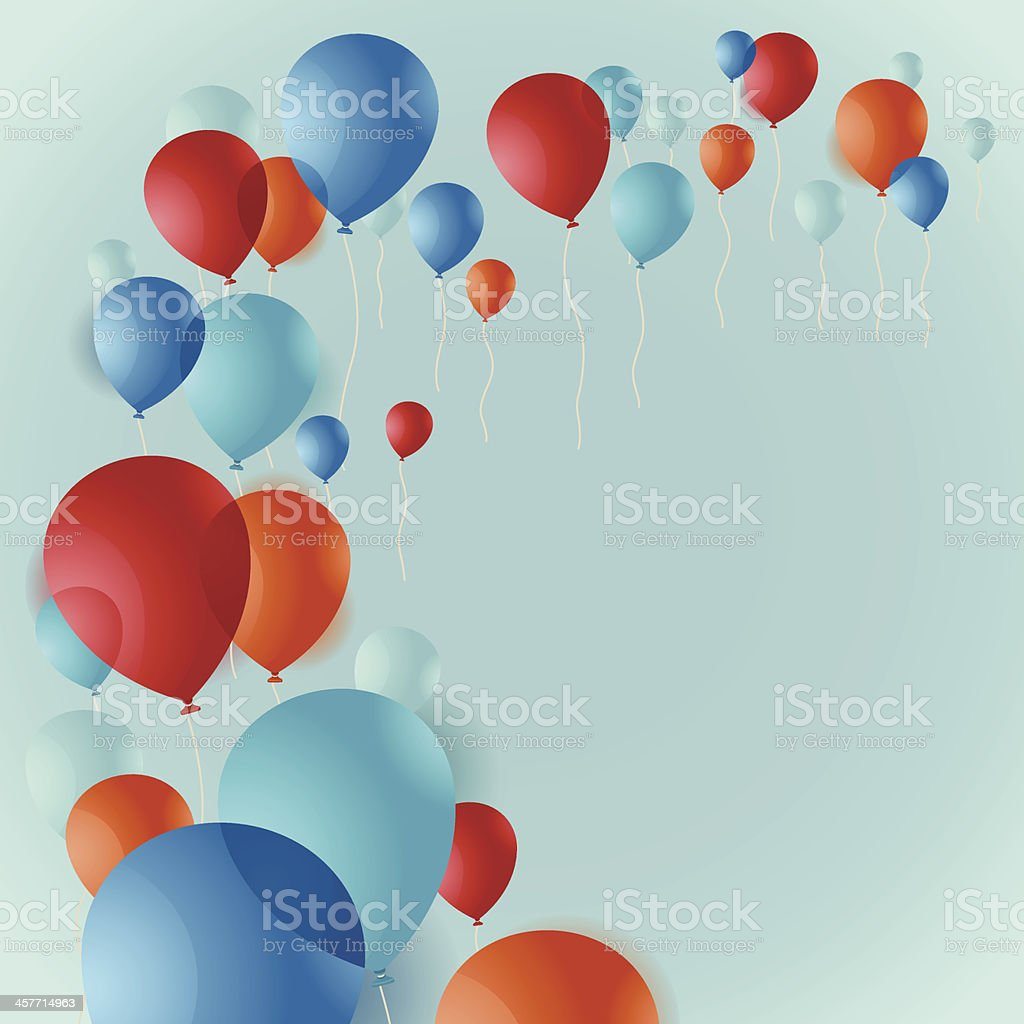 Balloon Background royalty-free stock vector art