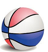 Balloon basketball of colors vector