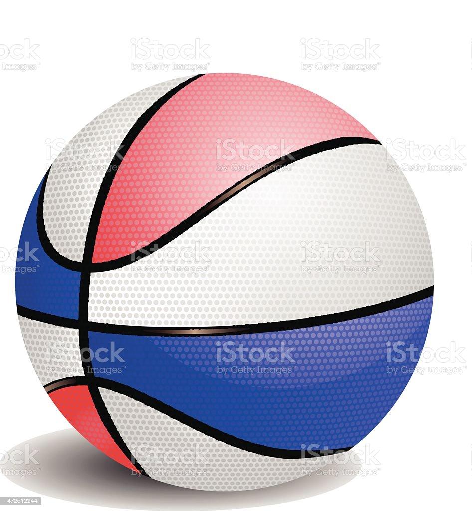 Balloon basketball of colors vector vector art illustration