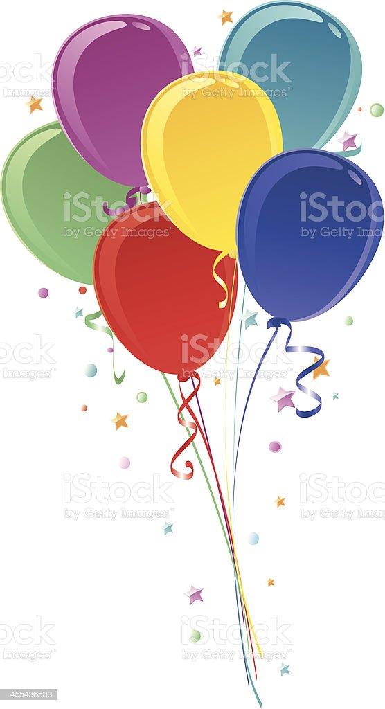 Balloon Bouquet vector art illustration