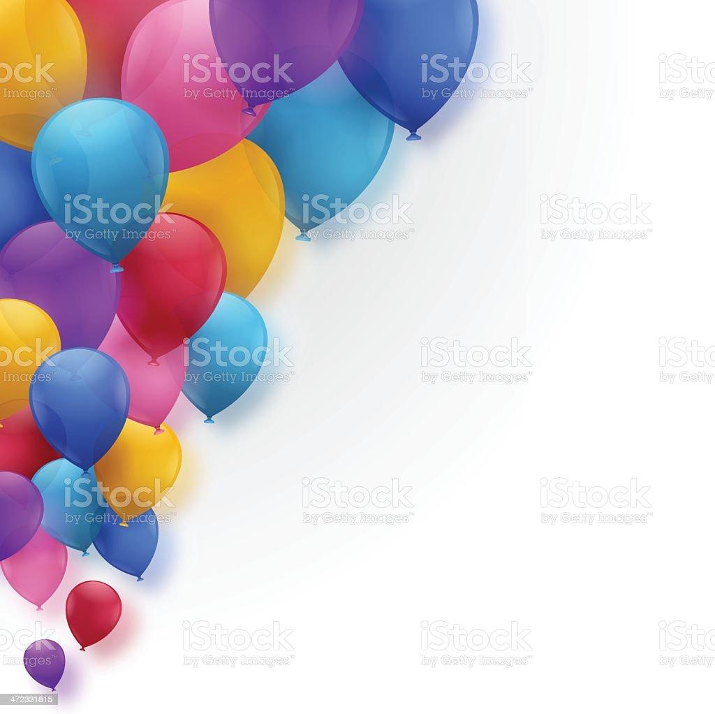 Celebración de fondo de globos aerostáticos - ilustración de arte vectorial