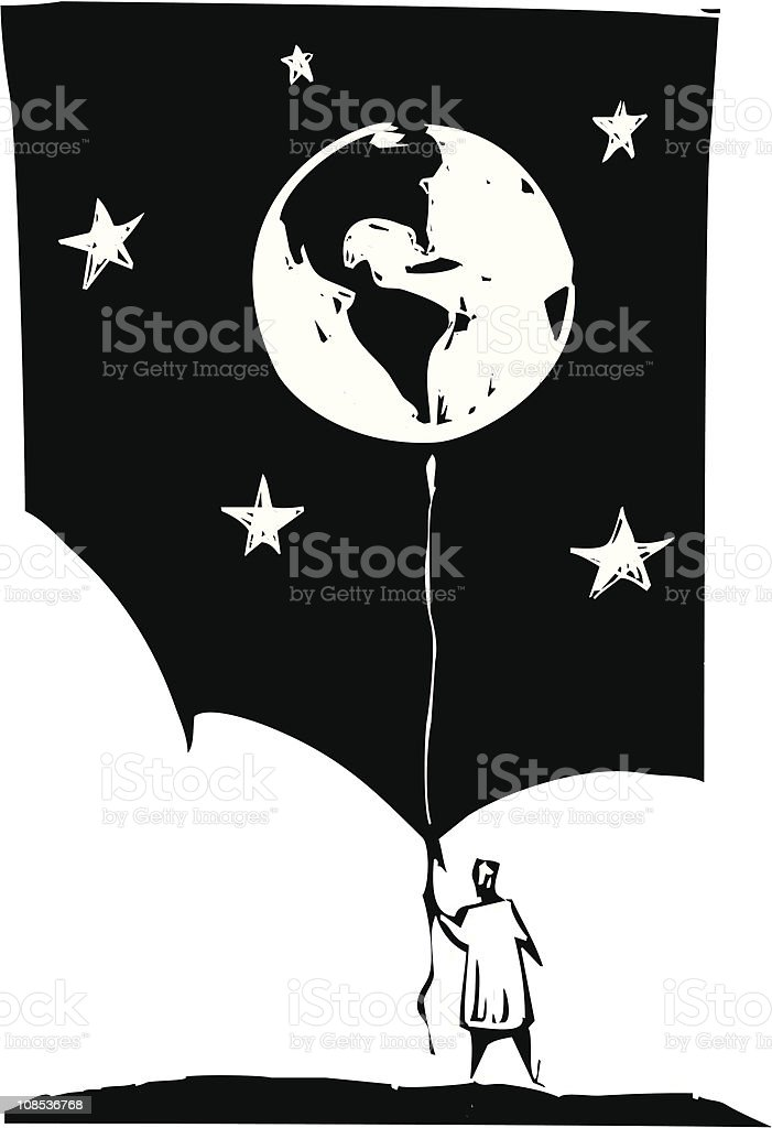 Balloon Earth royalty-free stock vector art