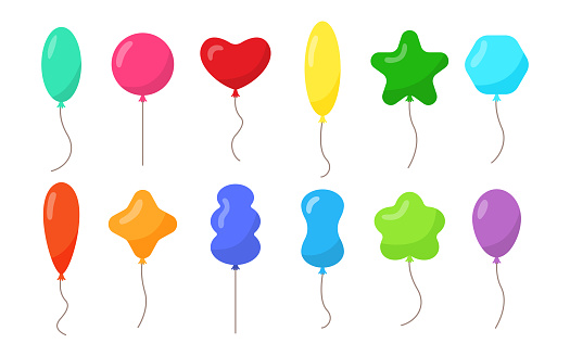 Balloon flying with rope party birthday decor set