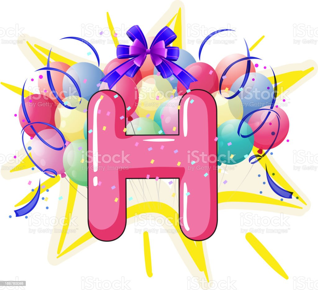 Balloon font series royalty-free stock vector art