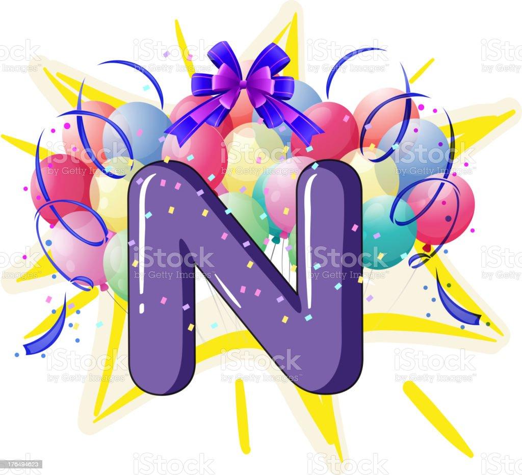 Balloon font series royalty-free stock vector art