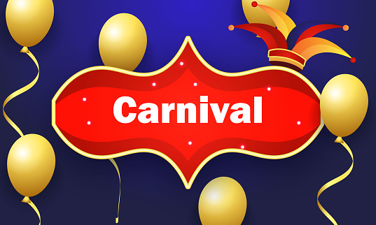 Balloon for carnival illustration