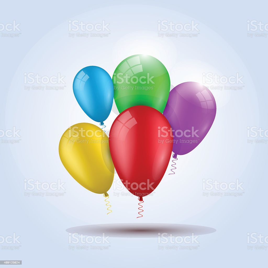 balloon for party, birthday, colourful, colour vector art illustration