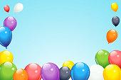 Balloon frame in vector