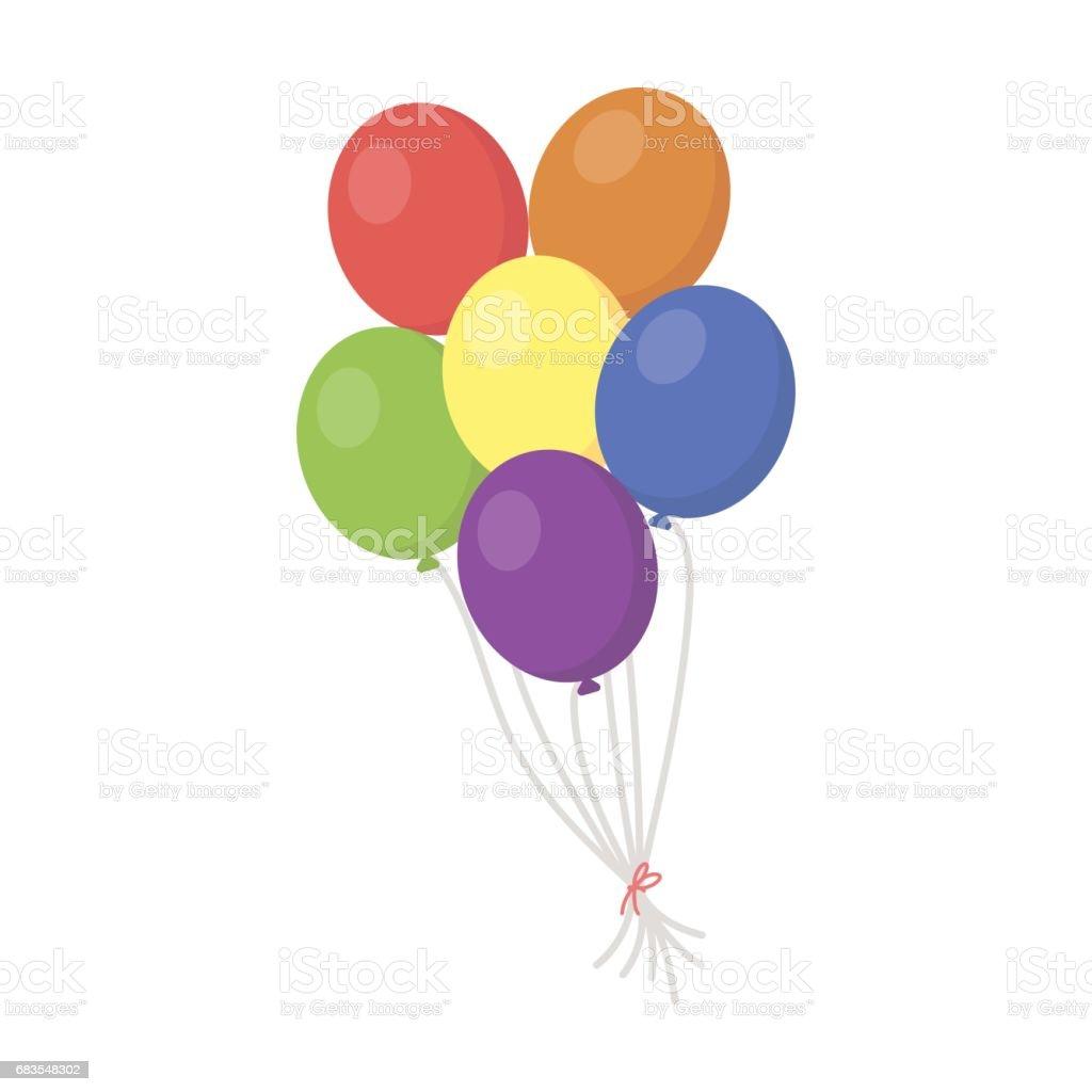 Balloon icon cartoon. Single gay icon from the big minority, homosexual  cartoon. - Illustration .