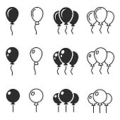 Balloon icon vector  , vector illustration