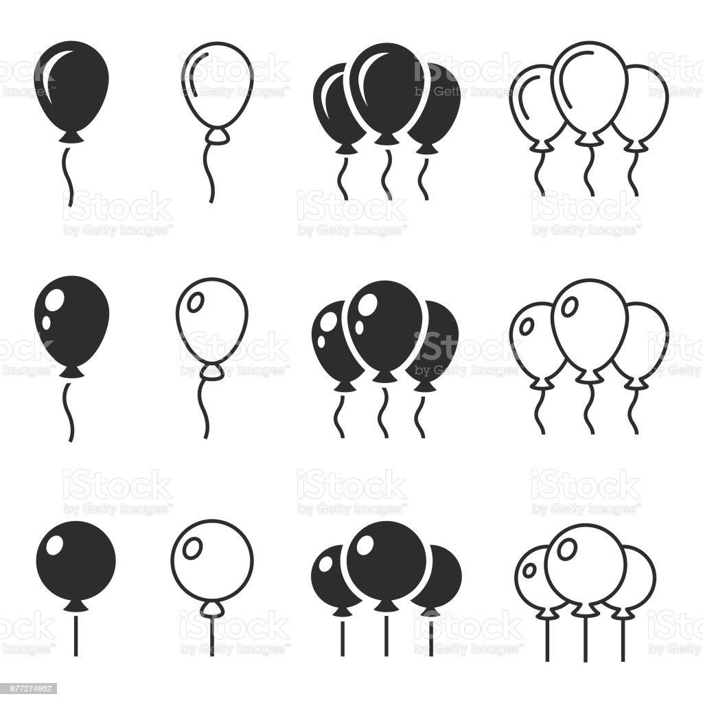 Ícone de vetor de balão - ilustração de arte em vetor