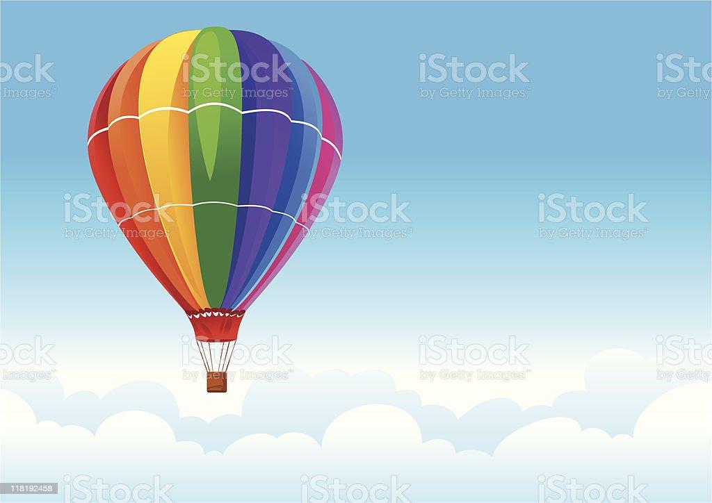 balloon in sky royalty-free stock vector art