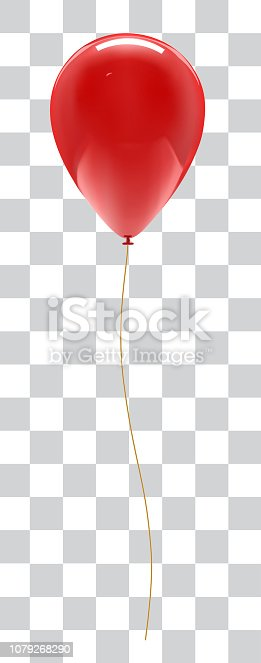 Balloon isolated on white background with reflection