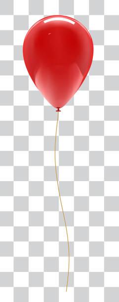 ballon isoliert auf weißem hintergrund mit reflexion - ballon stock-grafiken, -clipart, -cartoons und -symbole