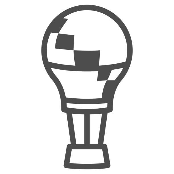 значок линии воздушного шара, концепция фестиваля воздушных шаров, знак aerostat на белом фоне, воздушный шар в значке неба в стиле контура для � - hot air balloon stock illustrations