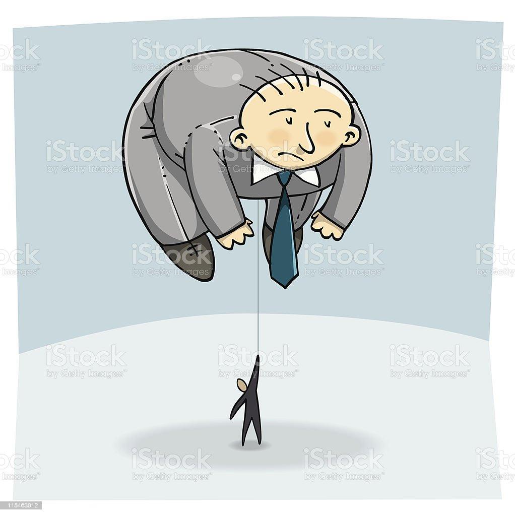 Balloon man vector art illustration