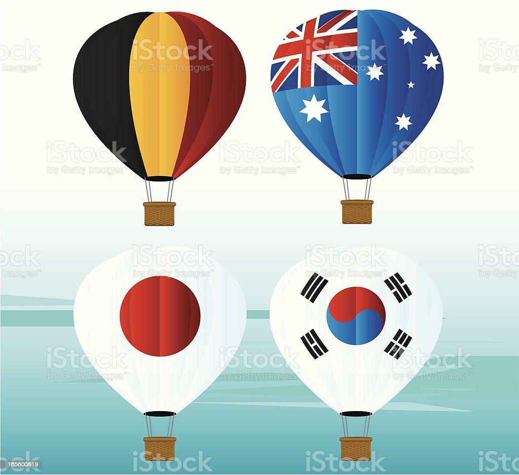 Balloon National Flag Icon royalty-free stock vector art