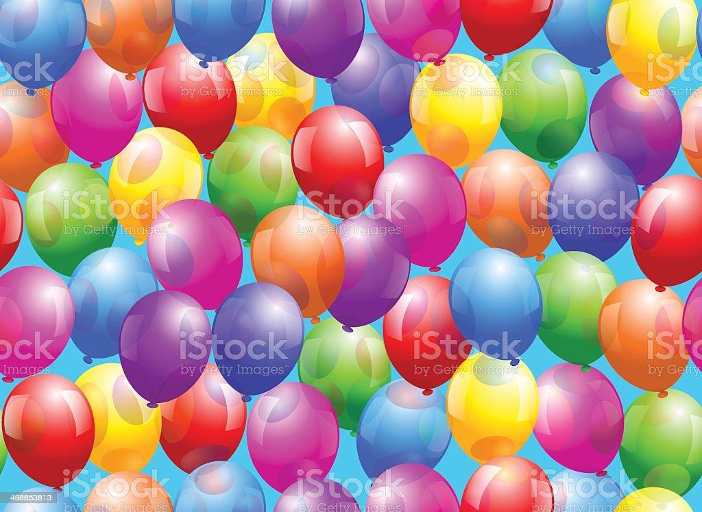 Balloon Seamless Wallpaper Stock Vector Art 498853813 Istock