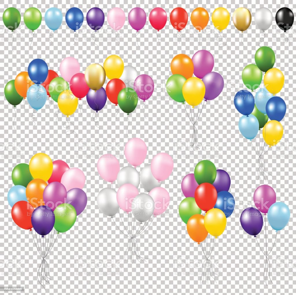 Balloon Set vector art illustration