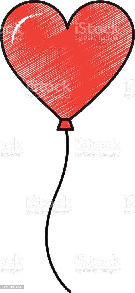 1c1d9f037e7 balão em forma de paixão de amor do coração vetor de balão em forma de  paixão
